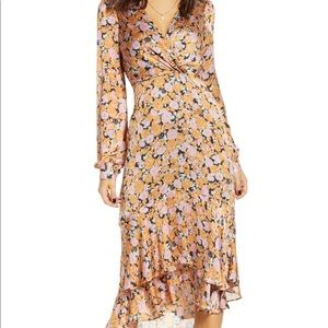 Celeste Ruffle Midi Dress by WAYF